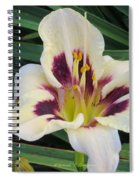 Creamy White Lily Spiral Notebook