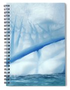 Crevasses Created By The Melting Spiral Notebook