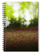 Crimson Clover Spiral Notebook