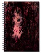 Crimson Torn Lace Spiral Notebook