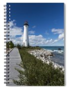 Crisp Point Lighthouse 10 Spiral Notebook