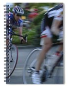 Criterium Bicycle Race 4 Spiral Notebook