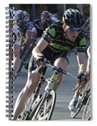 Criterium Bicycle Race 6 Spiral Notebook