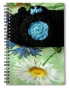 Crochet Camera Color Spiral Notebook