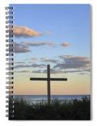 Ocean Grove Nj Cross On Beach Spiral Notebook
