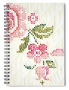 Cross Stitch Flower 1 Spiral Notebook
