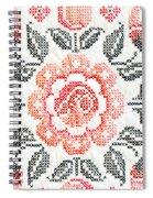 Cross Stitch Roses Spiral Notebook