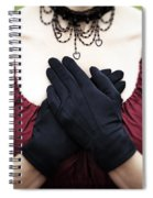 Crossed Hands Spiral Notebook