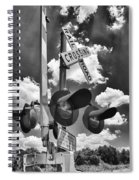 Crossing At Rt 36 13989b Spiral Notebook