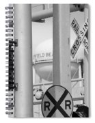 Crossing Signs In Black And White  Spiral Notebook