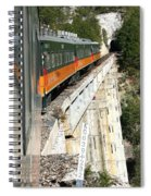 Crossing The Gorge Spiral Notebook
