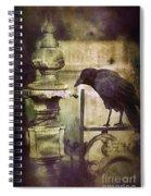 Crow On Iron Gate Spiral Notebook