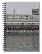 Crowd Of Devotees Inside The Golden Temple Spiral Notebook