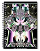 Crown And Jeweled Lotus Flowers Fractal 124 Spiral Notebook