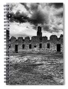 Crown Point Barracks Black And White Spiral Notebook