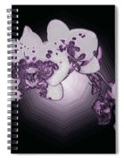 Crystal Butterfly Orchid Spiral Notebook
