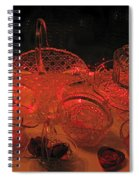Crystal In Red  Spiral Notebook