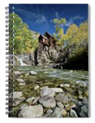 Crystal Mill In Autumn Spiral Notebook