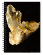 Crystal On Black Spiral Notebook