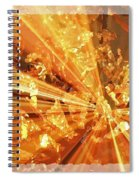 Crystallized - Digital Art Abstract Spiral Notebook