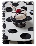 Cupcake With Cherry Spiral Notebook