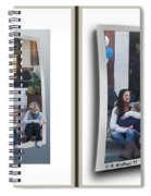 Curb Resting - Gently Cross Your Eyes And Focus On The Middle Image Spiral Notebook