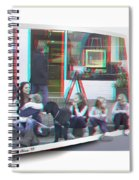 Curb Resting - Red-cyan 3d Glasses Required Spiral Notebook