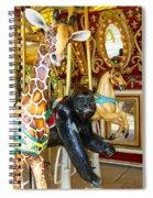 Curious Carousel Beasts Spiral Notebook