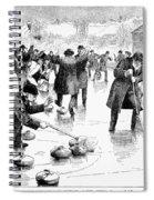 Curling, 1884 Spiral Notebook