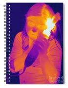 Curling Iron Spiral Notebook