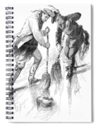 Curling Players, 1885 Spiral Notebook