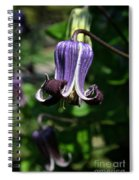 Curly Clematis Spiral Notebook