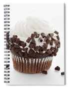 Curly Q Chocolate Cupcake Spiral Notebook