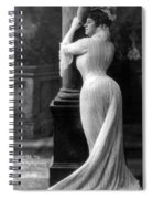 Curves In Black And White Spiral Notebook