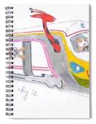 Cute Cartoon High Speed Train And Animals Spiral Notebook