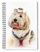 Cute Dog In Halloween Cowboy Costume Spiral Notebook