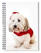 Cute Dog In Santa Outfit Spiral Notebook