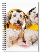 Cute Dogs In Halloween Costumes Spiral Notebook