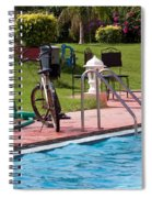 Cycle Near A Swimming Pool And Greenery Spiral Notebook