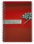 Cyclone Emblem Spiral Notebook