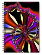 Cyclone Of Color Spiral Notebook
