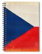 Czech Republic Flag Spiral Notebook