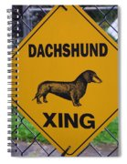 Dachshund Crossing Spiral Notebook