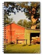 Dad's Old H Spiral Notebook