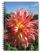 Dahlia Named Misty Explosion Spiral Notebook