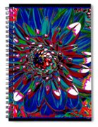 Dahlia With Intense Primaries Effect Spiral Notebook