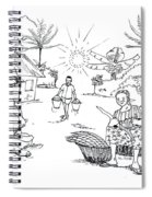 Daily Life In South And Center Cameroon 03 Spiral Notebook