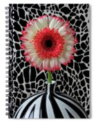 Daisy And Graphic Vase Spiral Notebook