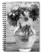 Daisy Crazy Bw Revisited Spiral Notebook