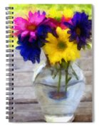 Daisy Crazy Revisited Spiral Notebook